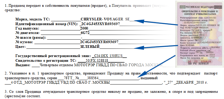 Порядок оформления договора купли-продажи транспортного средства