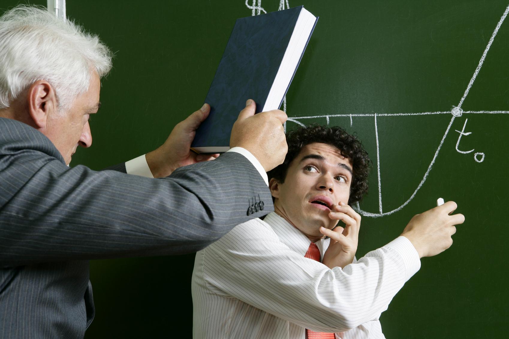 Ученик конфликтует с учителем